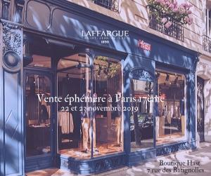 Novembre 2019 - Boutiques éphémères à Bordeaux et à Paris.