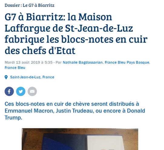 OCTOBRE 2019 - FRANCE BLEU PAYS BASQUE